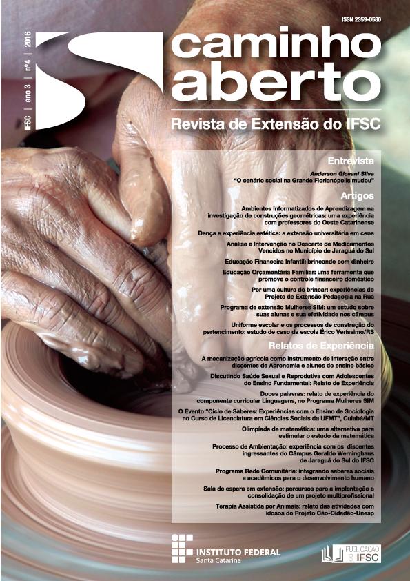 Capa da Revista Caminho Aberto Ano 03, n. 4 (2016)
